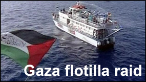 Israeli raid on flotilla for Gaza